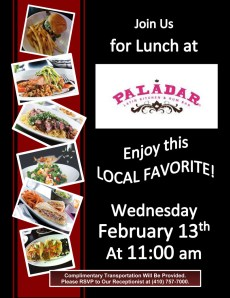 lunch out flyer