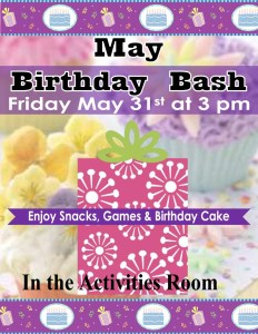 may 2019 birthday party flyer