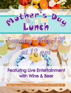 mothers day lunch flyer