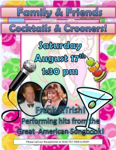 friends and family event flyer