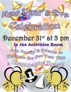annapolis assisted living new years eve party flyer