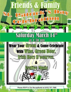 st patricks day party flyer