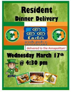 image of catered dinner flyer