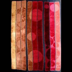 """Many Moons"" by Joyce Lavasseur Rayon 3-panel Wall Hanging rlavasseur08@comcast.net"