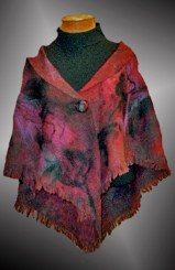T Voigt felted wook cape