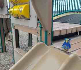 Mess Free Playgrounds - Southeast Area - Arbor Annie on the Slide