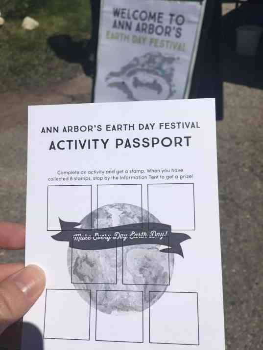 Ann Arbor Earth Day Festival - Activity Passport
