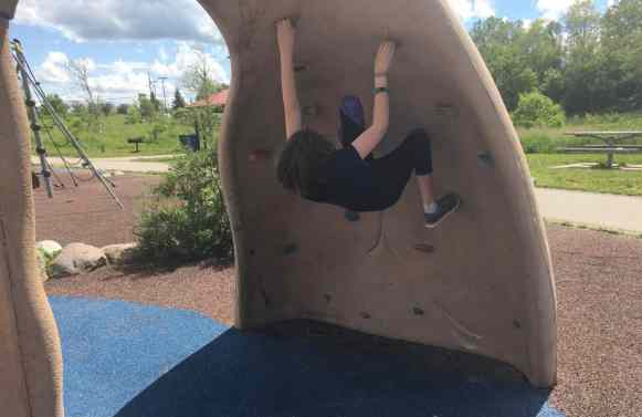 Olson Park Playground - Rock Wall