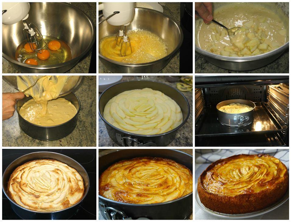 Preparación paso a paso de la tarta de manzana muy fácil