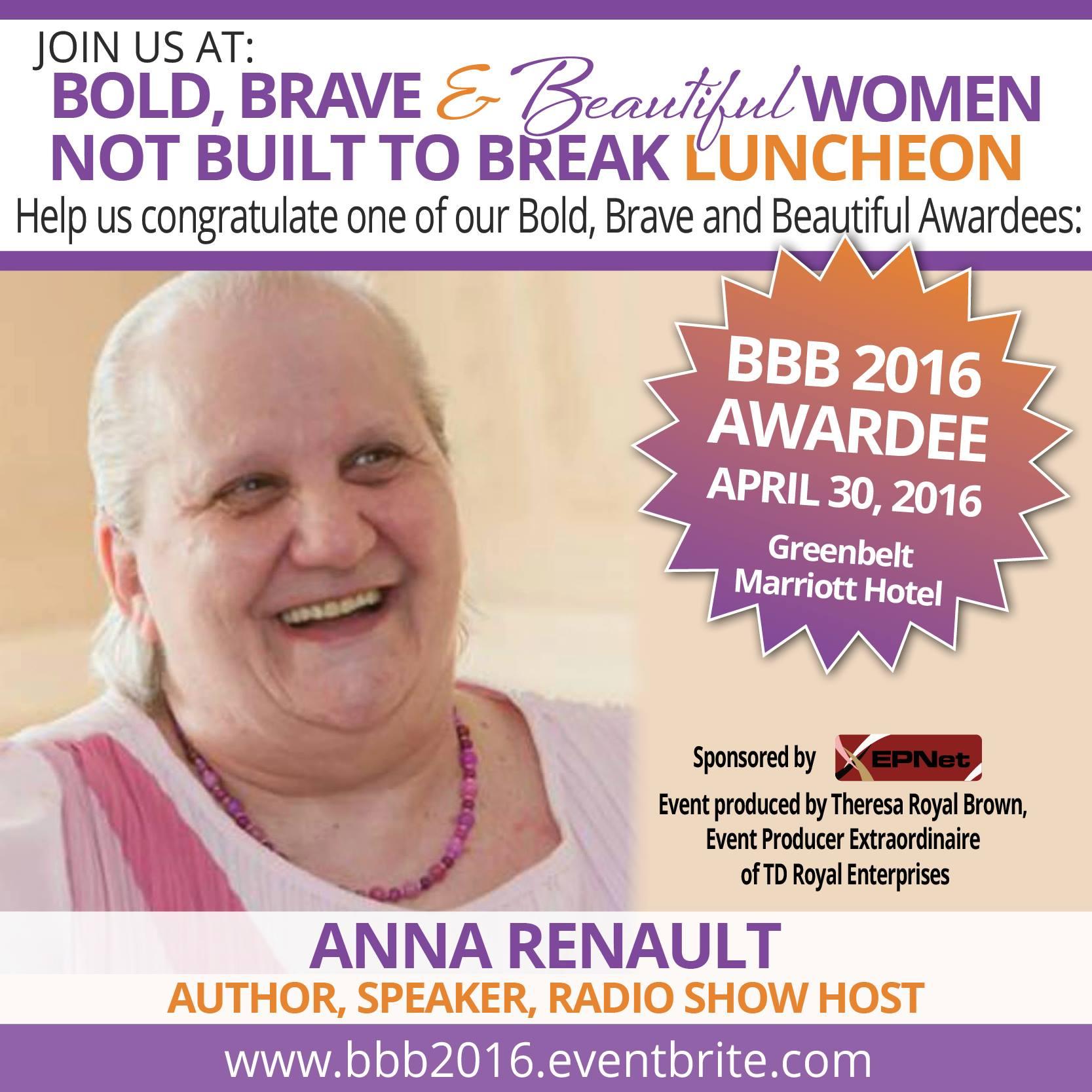 Anna Renault - BBB Awardee