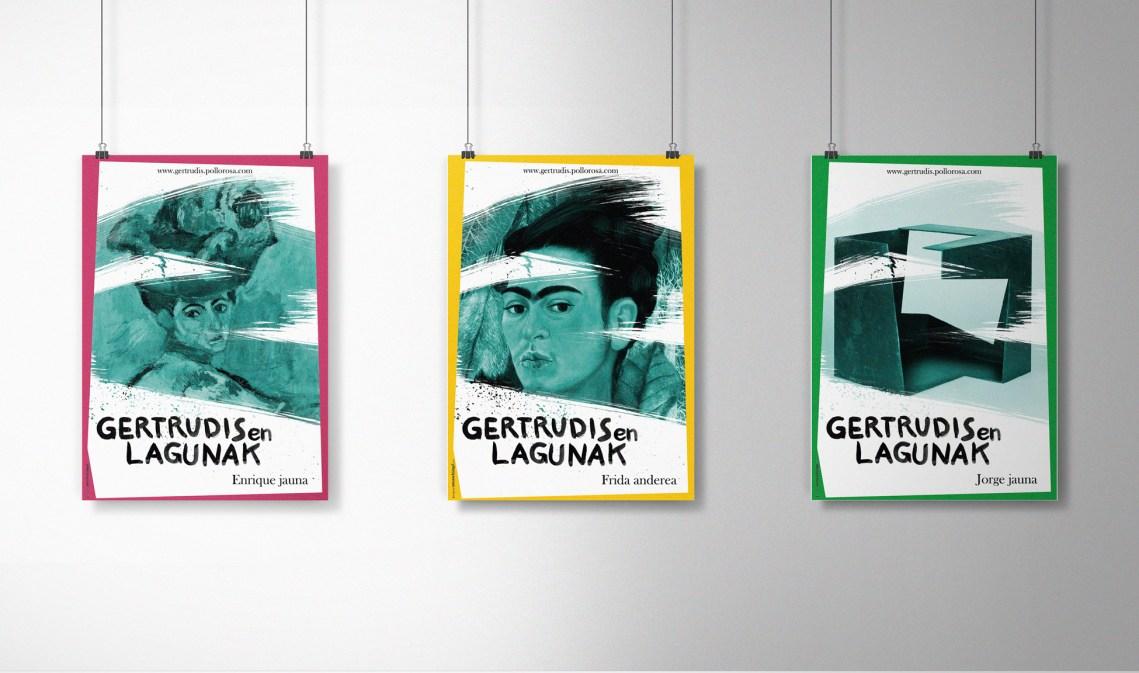 Carteles Las amistades de Gertrudis euskera