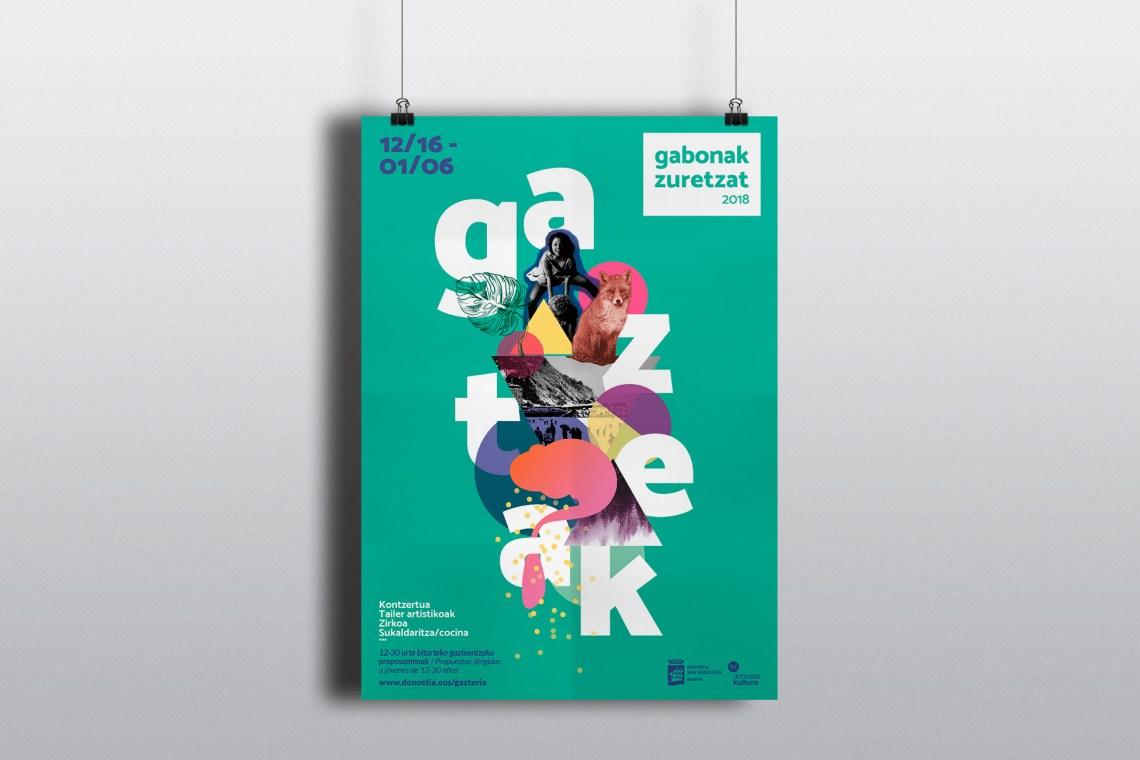Cartel para Gabonak Zuretzat Gazteak 2018