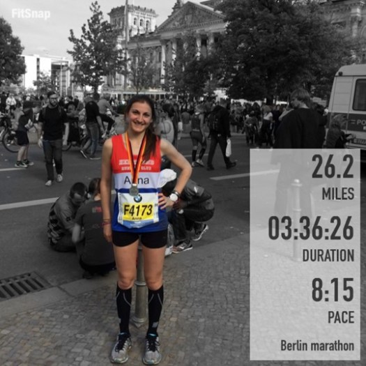 Berlin marathon finishing time