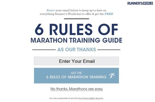 RunnersWorld Subscription Advert