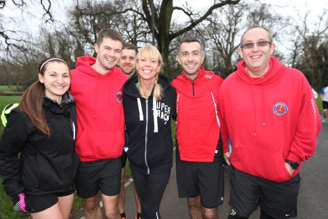 New Year's Day Park Run, the Common, Southampton.               Picture: Chris Moorhouse.                Friday 1st january 2016