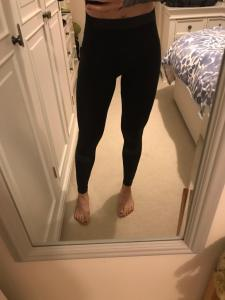 Trend Mark Fabletics Leggings Small Black And Grey Zipper Excellent Condition Be Shrewd In Money Matters Women's Clothing