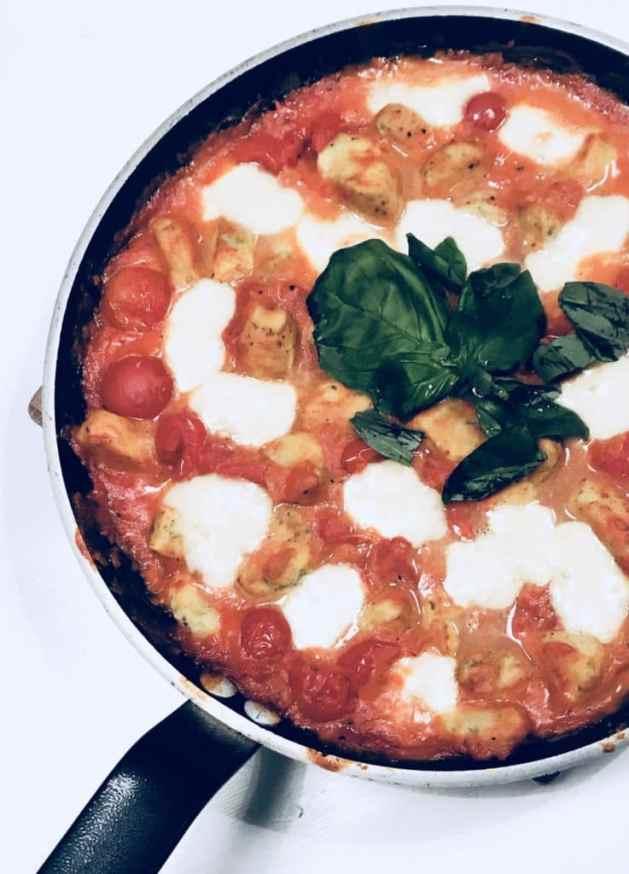 Gnochis Blumenkohl Tomate Mozzarella