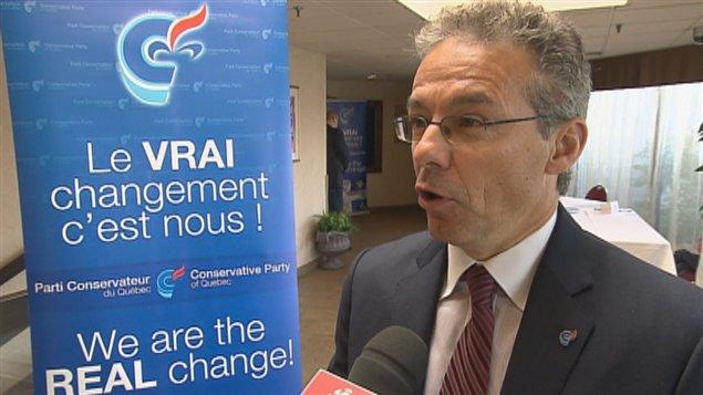 Adrien Pouliot, chef du Parti conservateur du Québec.