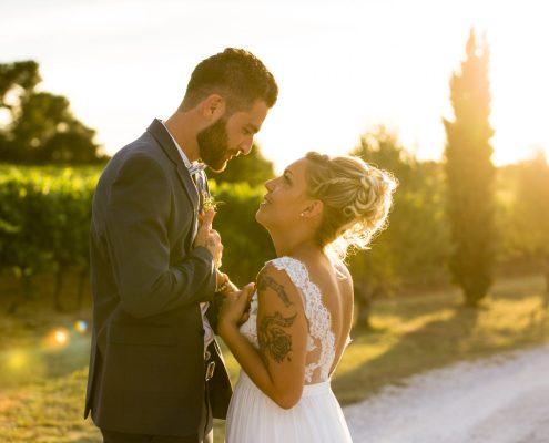 séance photo de mariage au mas des auréliens