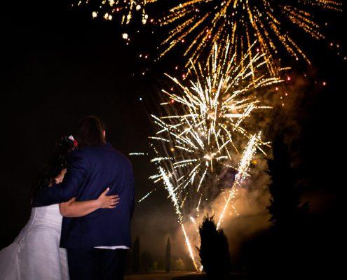 feux d'artifice mariage au mas des aureliens