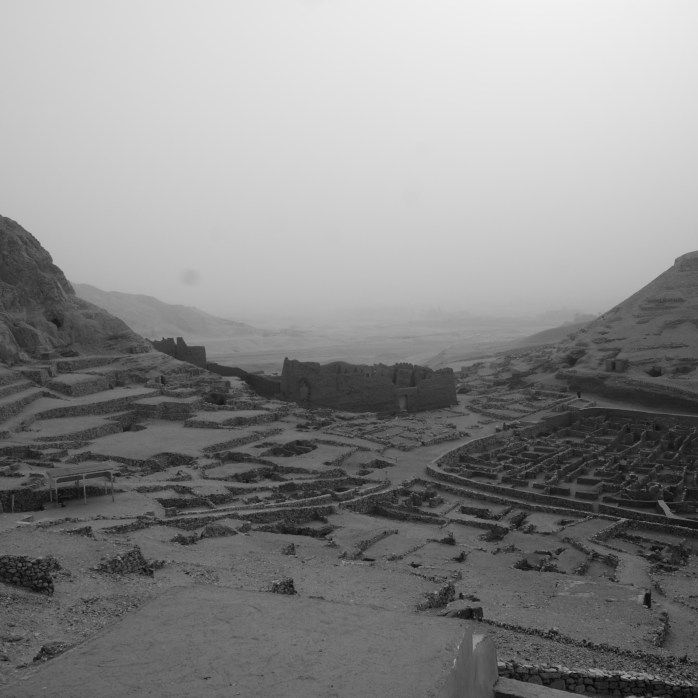 A dusty day at Deir el-Medina