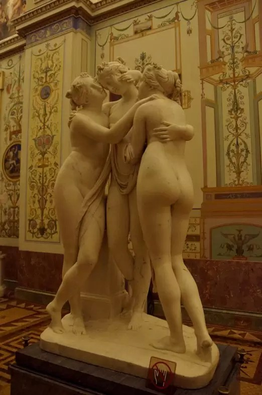 Hermitage museum guide: The marmor sculpture of the three graces