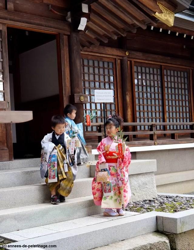 Rite of passage (shichi go san) at Meiji shrine tokyo