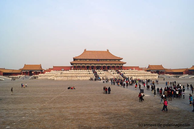Hall of Supreme Harmony and the courtyard before in the Forbidden City in Beijing