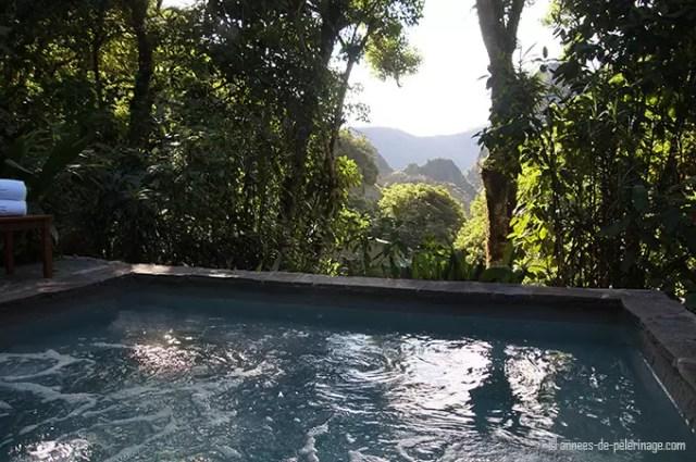 hot tub with view on wayna picchu belmond sanctuary lodge