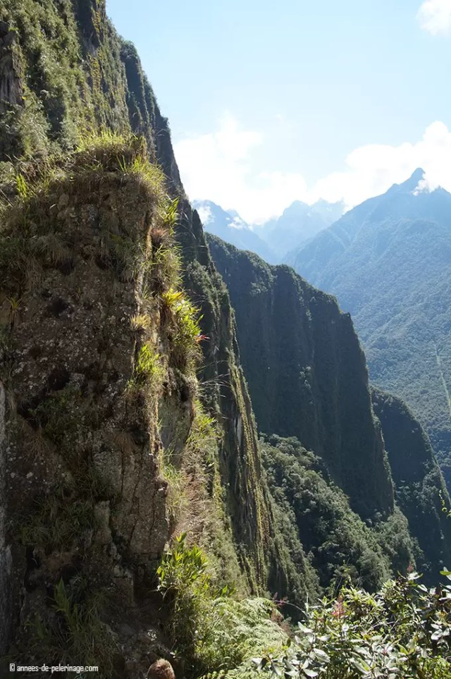 The almost verticale incline leading up to wayna picchu