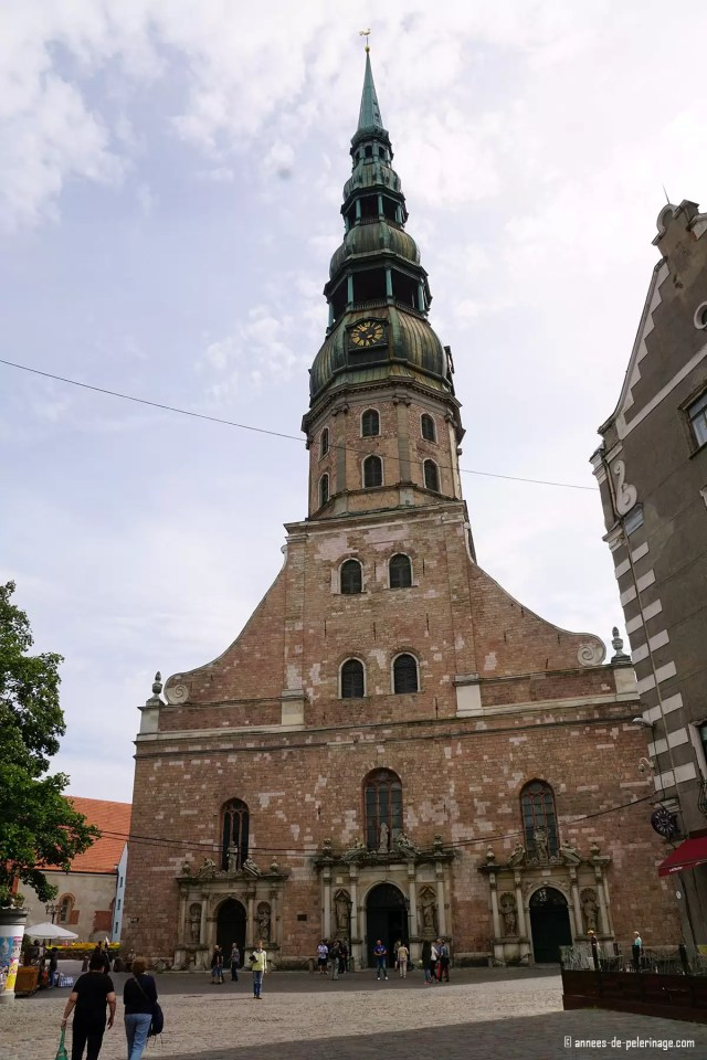 St. Peter'S church in Riga offers a beautiful view from its high bellfry