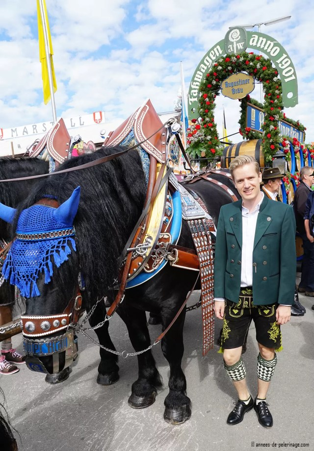 Me wearing traditional bavarian clothes at oktoberfest in Munich