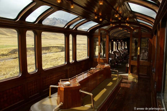 Taking the Andean Explorer Luxury train from Cusco to Lake Titicaca