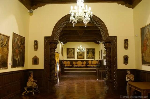 The salón dorado in the archbishop palace in Cusco, Peru