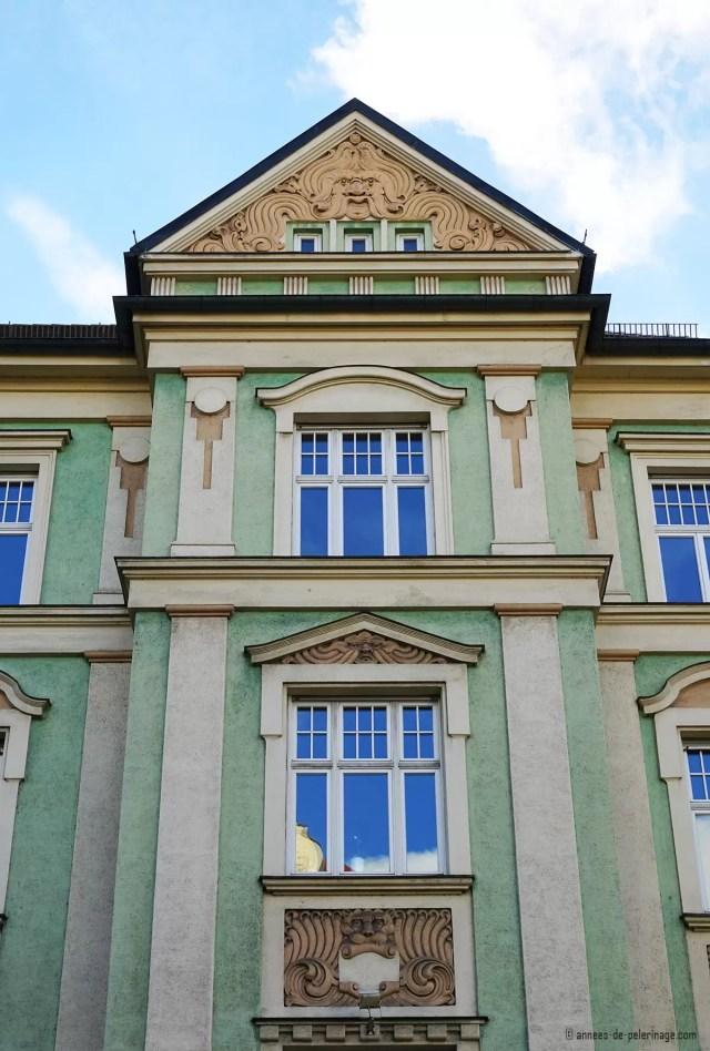Art Nouveau house in Ismaningerstrasse 98 in Munich