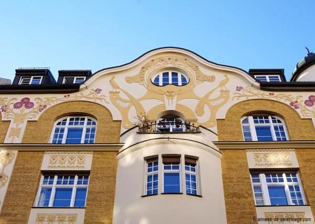 Art Nouveau house in the Lucile Grahn Strasse 47 in Bogenhausen, Munich