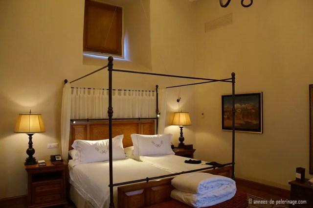 The bedroom at the Belmond Palacio Nazarenas in Cusco