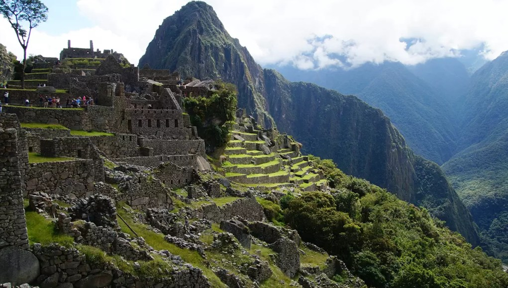 The urban sector of Machu Picchu and Wayna Picchu in the background