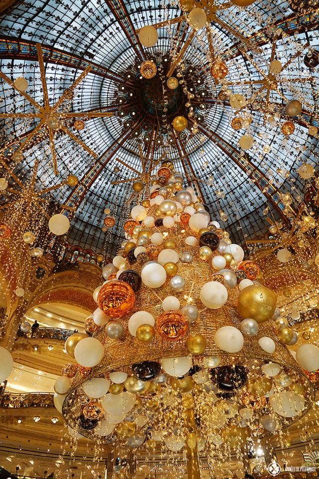 "The outstanding christmas tree at the Galleries La Fayette in Paris. If your list of things to do in Paris features ""shopping"", this is where you will want to go."
