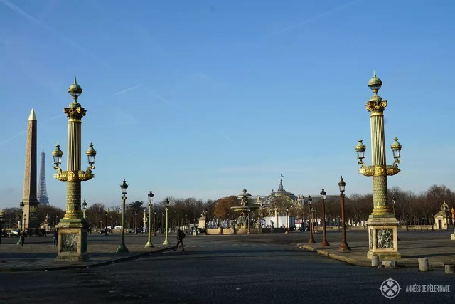 The Place de la concorde in Paris, with the Grand Palais in the background