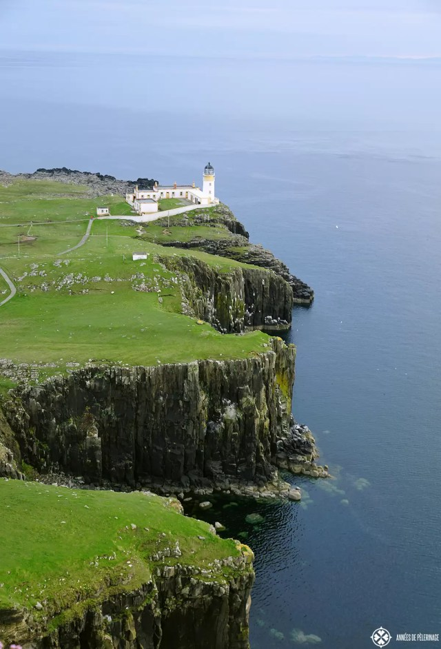The lighthouse at the Neist point on the Isle of Skye in Scotland