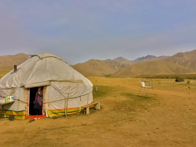 A yurt in the oblast of Talas in Kyrgyzstan