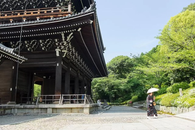 The main hall of the Chion-in Buddhist temple in Kyoto