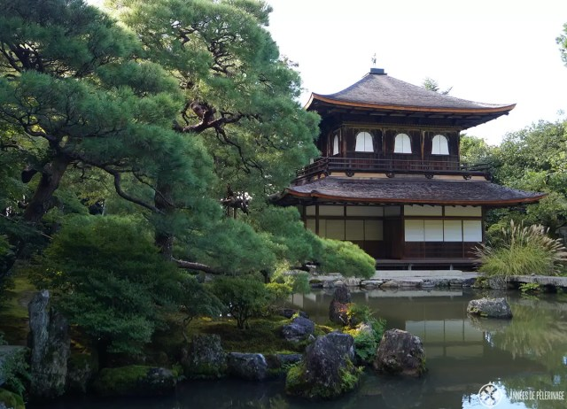 The ginkaku-ji Silve temple in Kyoto and its beautiful garden