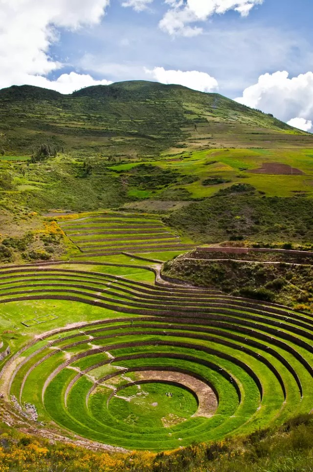 The Inca ruins of Moray in Peru (inside the Sacred Valley)