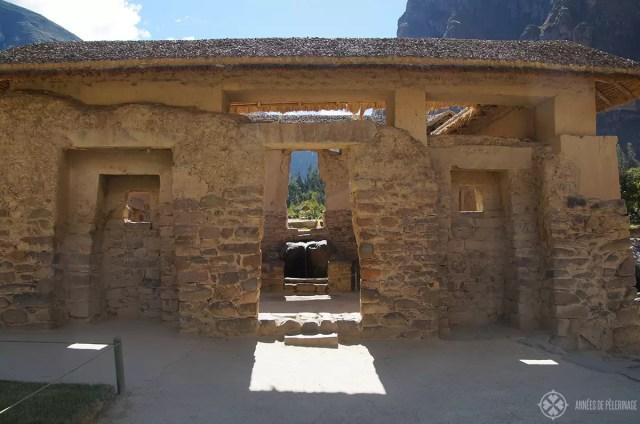 The Templo del Agua in Ollantaytambo, Peru