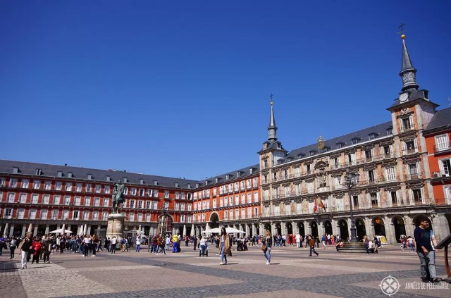 The Plaza Mayor in Madrid spain is one of the top things to do in Madrid