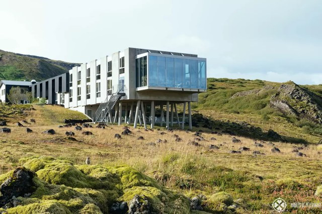The whole building of the Ion Adventure Hotel in Iceland