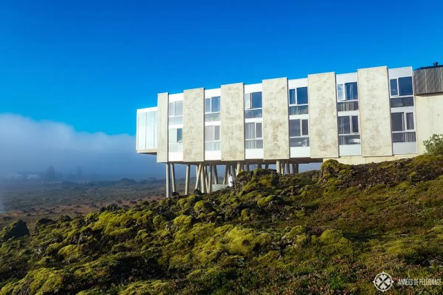The Ion Adventure Hotel in Iceland in the early morning fog