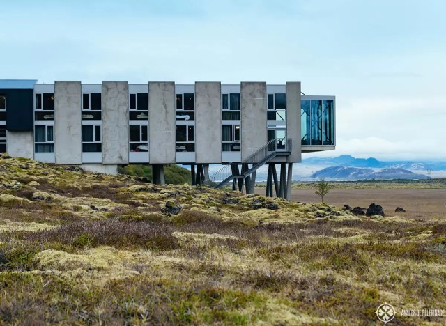 The main building of the Ion Adventure Hotel in Iceland - it's pretty but my review still is not as good